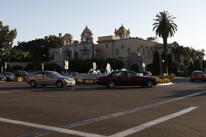 Parking has been allowed in Balboa Park's main square since 1917 with a few exceptions.