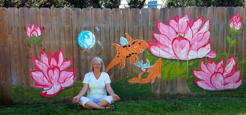 Ramona artists Janice Reich has recently been able to combine her passions for art and yoga.