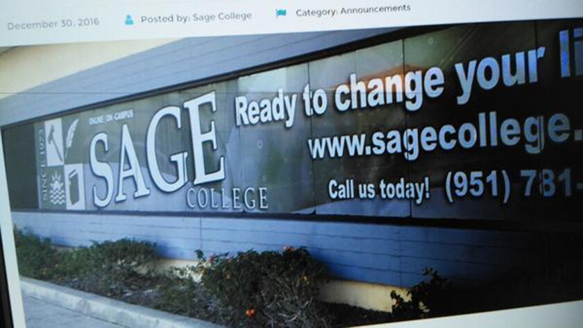 According to students, Sage continued to collect federal student loan funds and tuition payments as recently as a few days before closing.