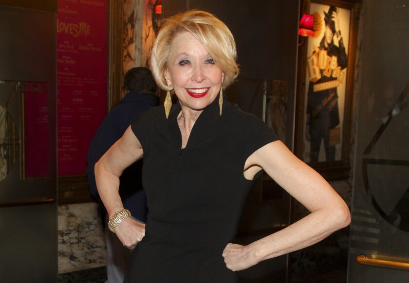"""FILE - Julie Halston attends the Broadway opening night of """"She Loves Me"""" on March 17, 2016, in New York. Halston will receive the Isabelle Stevenson Tony Award for her work fighting the lung-scarring disease pulmonary fibrosis. The Tony Awards Administration Committee announced Wednesday, July 28, 2021, that Halston would get the special Tony """"for her dedication and advocacy in raising funding and awareness."""" (Photo by Andy Kropa/Invision/AP, File)"""