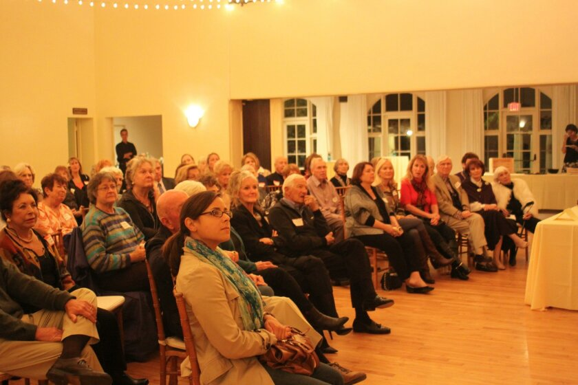 Lecture attendees listen to Chief Zimmerman's story