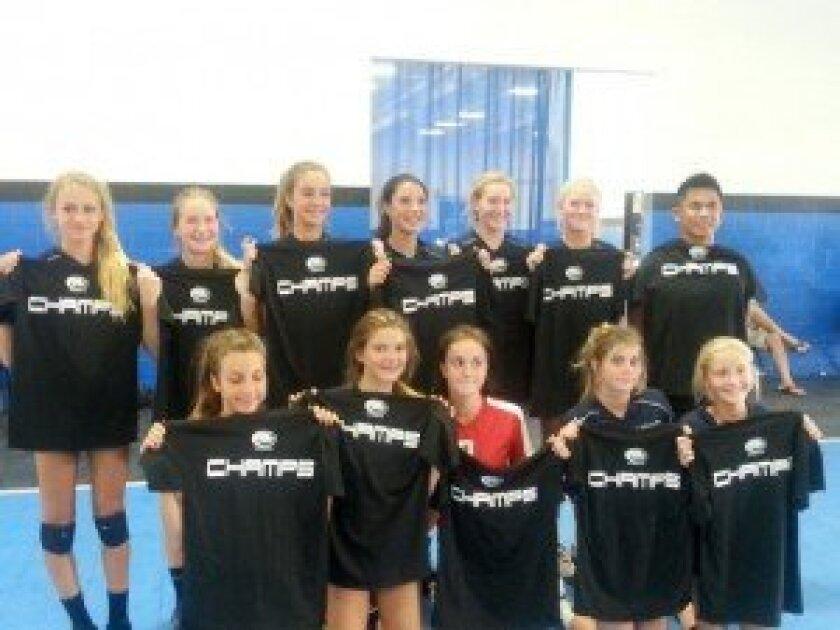 The eighth-grade Seahawks team from Earl Warren Middle School in Encinitas.