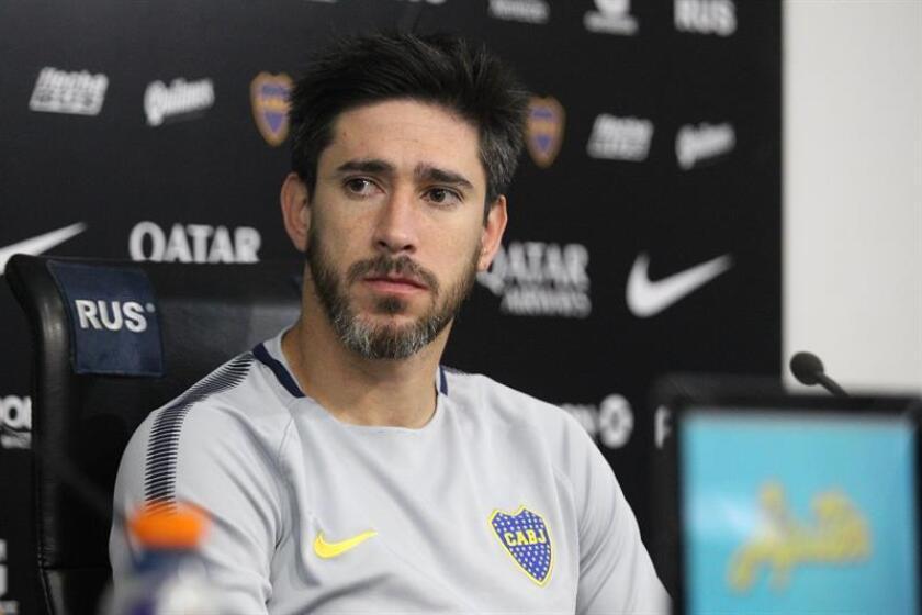 Pérez, de 33 años, debutó en Newell's Od Boys y pasó por el Emelec ecuatoriano, el Málaga y Unión antes de arribar a Boca Juniors. EFE/Archivo