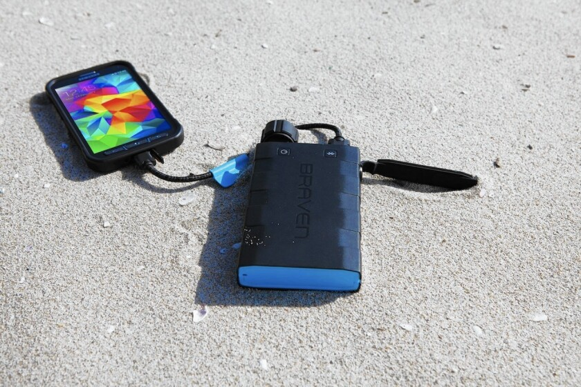 The Braven BRV-Bank backup battery charges your gear and might scare bears.