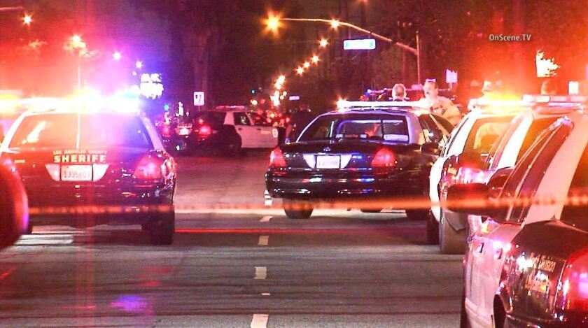 Long Beach officer shot