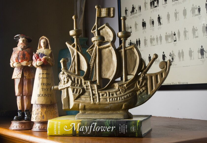 Mayflower descendants often decorate their homes with memorabilia, and not just at Thanksgiving.