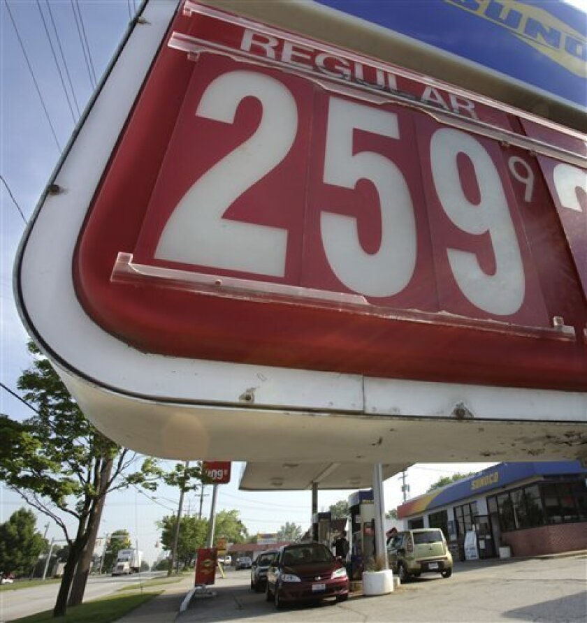 In this May 27, 2010 photo, the price for one gallon of unleaded regular gasoline appears on the sign in front of a Sunoco gas station in Bedford, Ohio. Motorists will catch a break at the gas pump as they head out for the Memorial Day weekend. (AP Photo/Amy Sancetta)