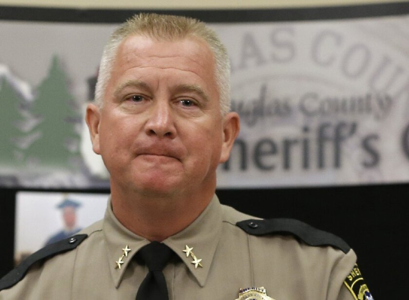 Douglas Conty Sheriff John Hanlin has refused to use the name of the man who shot to death nine people at an Oregon community college.