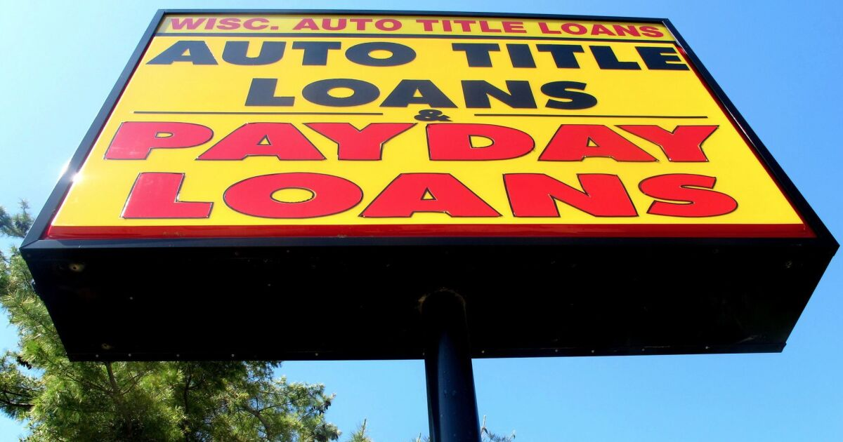 Editorial Trump Administration Sides With Predatory Lenders Again Los Angeles Times