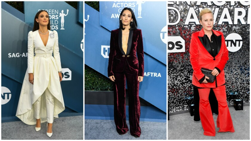 Masculine meets feminine at the 2020 SAG Awards