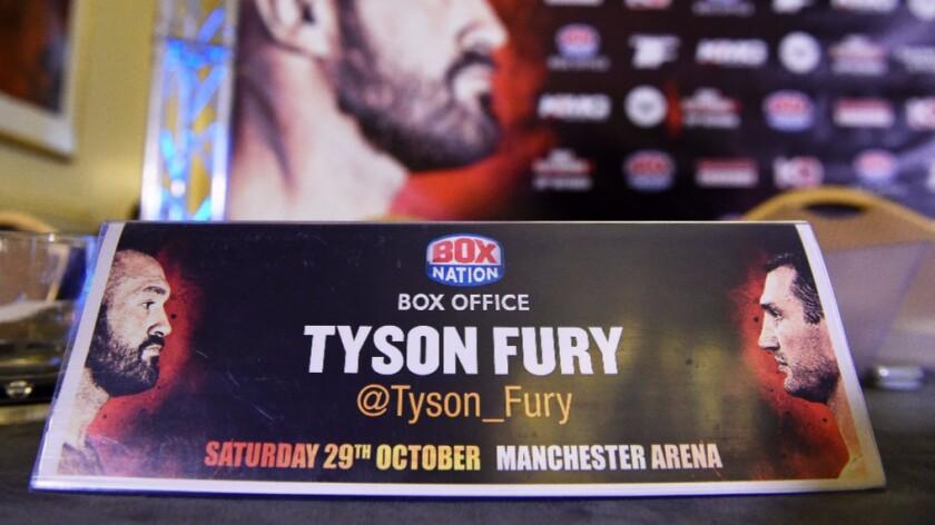 Tyson Fury withdrew last week from his scheduled Oct. 29 redmatch against former champion Wladimir Klitschko.