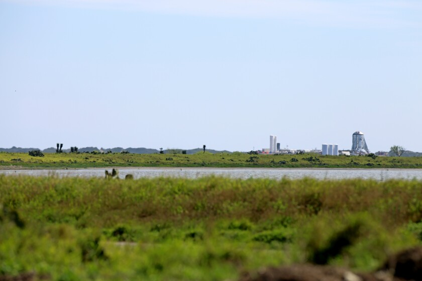 SpaceX's facility at Boca Chica Beach
