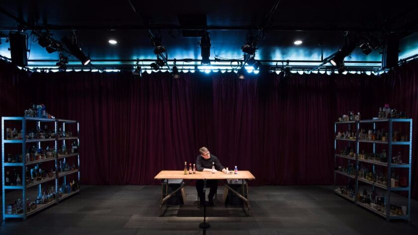 """Table Top Shakespeare"": One person on stage, acting with bottles, cans and the occasional cheese grater."