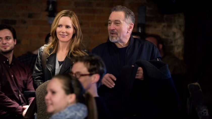 """Robert De Niro and Leslie Mann in the new movie """"The Comedian."""""""