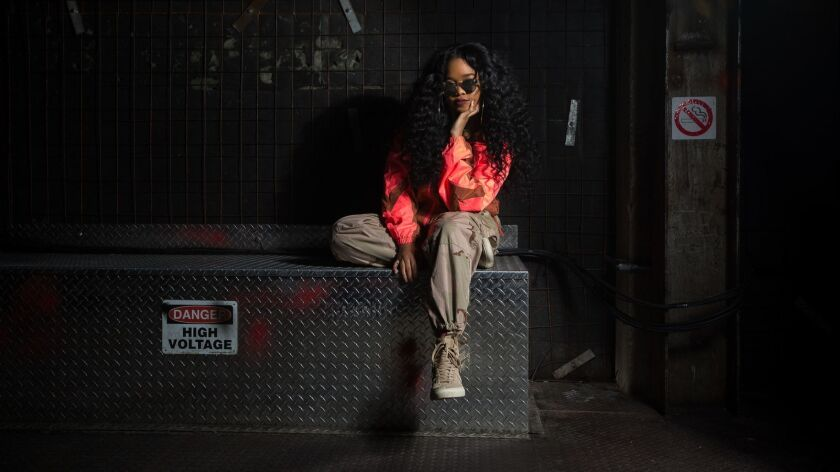 Singer-songwriter H.E.R. photographed in Brooklyn, New York on November 27, 2018.