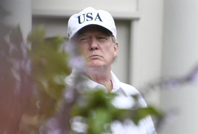 En la imagen un registro del presidente de Estados Unidos, Donald Trump. EFE/Archivo