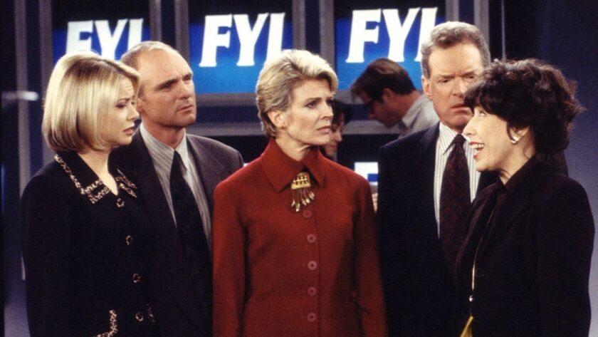 MURPHY BROWN. Faith Ford as Corky Sherwood, Joe Regalbuto as Frank Fontana, Candice Bergen as Murph