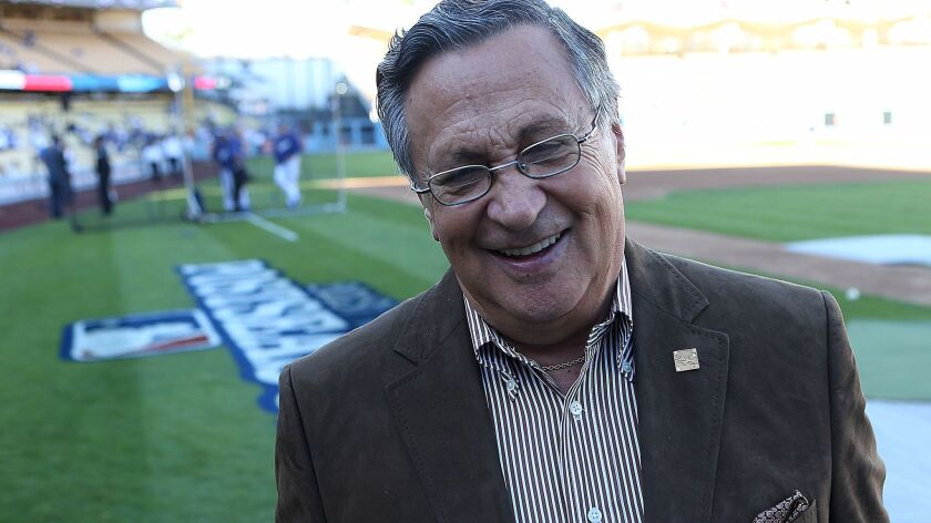 Jaime Jarrin has been the Spanish-language voice of the Dodgers for 60 years..