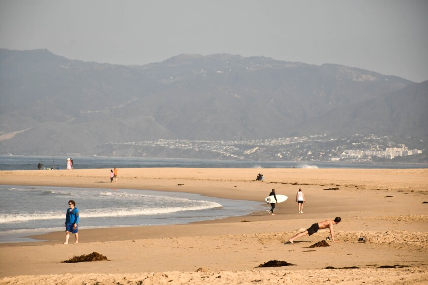 L.A. County beaches, including Venice, shown here, will be closed for the July 4 weekend.