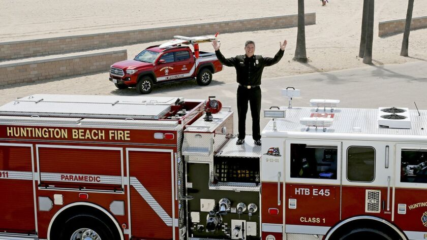 Huntington Beach Fire Chief Dave Segura said his decision to retire is to spend more time with his f