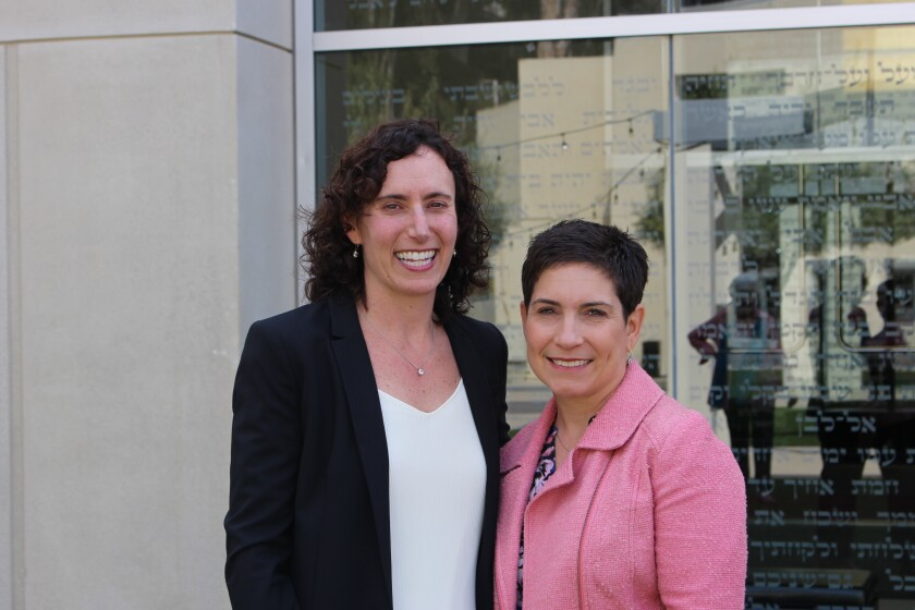Sarah Schatz, Jewish Community Foundation manager of philanthropy and social impact; and Jessica Effress, Jewish Women's Foundation board chair