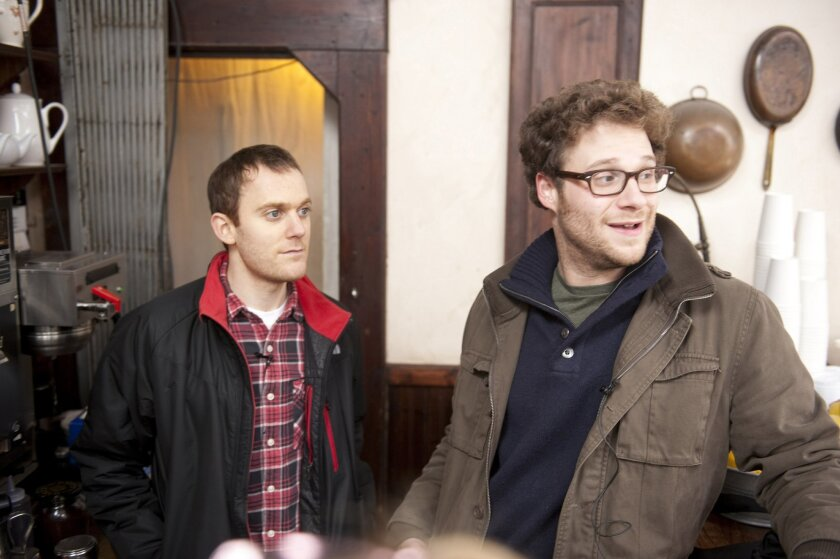 """Writer Will Reiser and actor Seth Rogen turned Reiser's experiences with cancer into the movie """"50/50."""" Photo: Chris Helcermanas-Benge"""