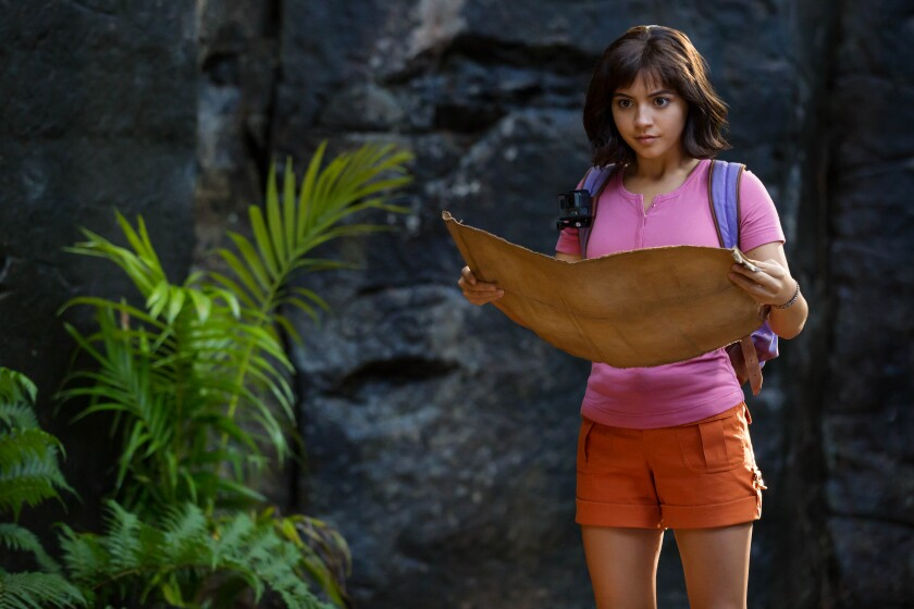 """Isabela Moner in the title role in """"Dora and the Lost City of Gold."""""""