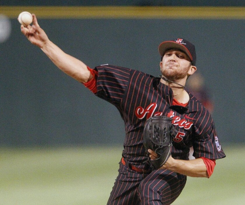 San Diego State pitcher Bubba Derby ranks sixth in the nation this season with 122 strikeouts.