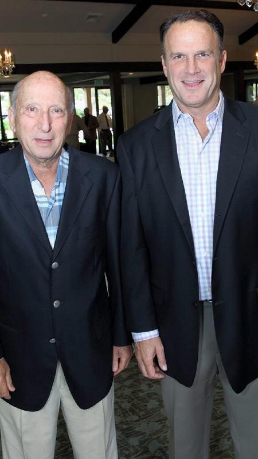 Rancho Santa Fe Association President Fred Wasserman and Mike Licosati