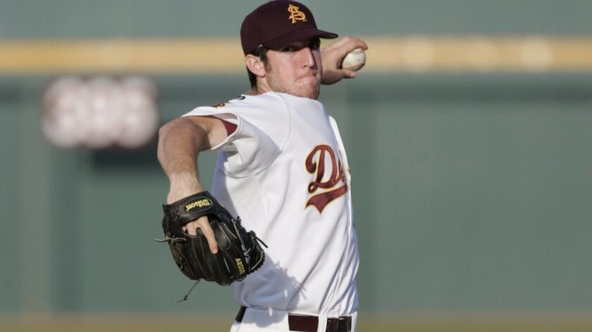 Ike Davis, who pitched in college at Arizona State, has faced seven batters, striking out four, walk
