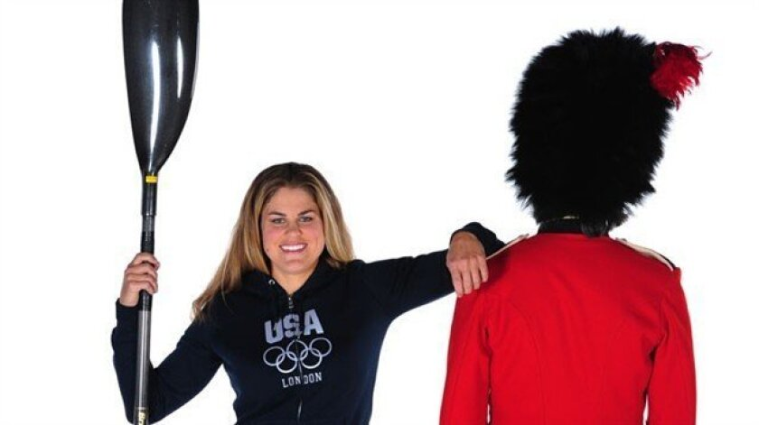 La Jolla's Carrie Johnson poses for an Olympic photo.