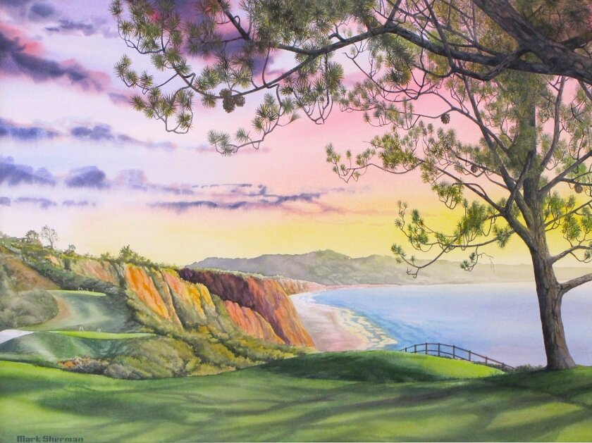 """""""Torrey Pines North 7th"""" by Mark Sherman."""