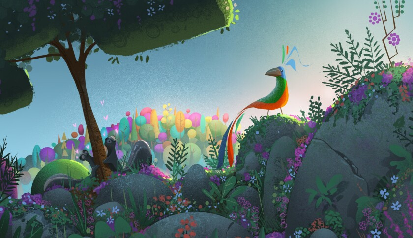 """John Legend is the voice of a singing bird in the new virtual reality animation project """"Rainbow Crow."""""""