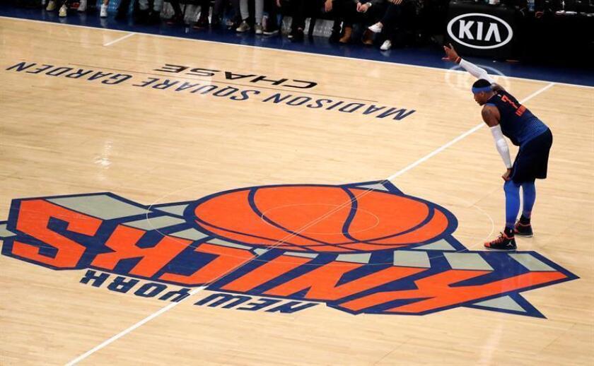 En la imagen, el alero Carmelo Anthony. EFE/Archivo