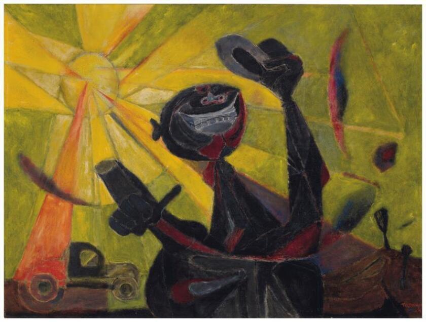 """Fotografía cedida por la casa de subastas Christie's donde se aprecia la obra """"Hombre Feliz"""" (1947) de Rufino Tamayo que se vendió por 2,1 millones de dólares durante una subasta de arte latinoamericano. EFE/Christie's/SOLO USO EDITORIAL/NO VENTAS"""