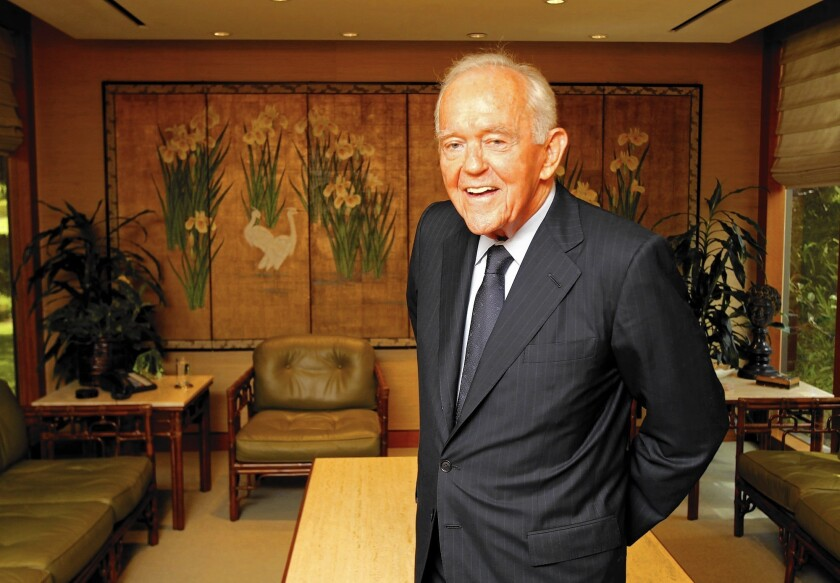 Henry Segerstrom, South Coast Plaza developer, dies at 91
