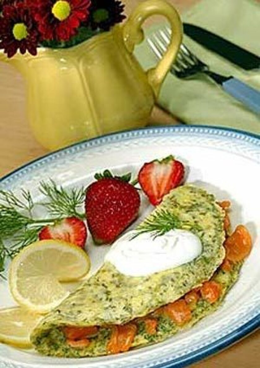 Recipe Lemon Dill Omelet Los Angeles Times