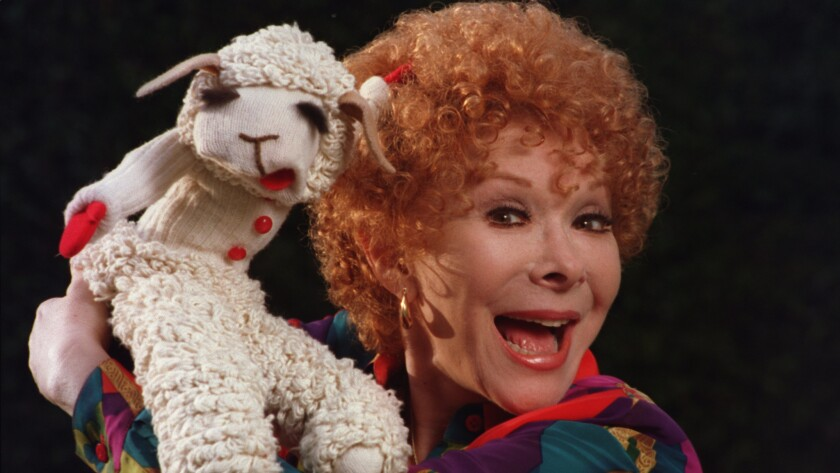 Shari Lewis with Lamb Chop.
