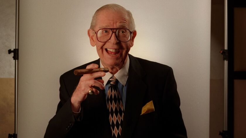 The late comedian Milton Berle at the Friar's Club in Beverly Hills in 1998.