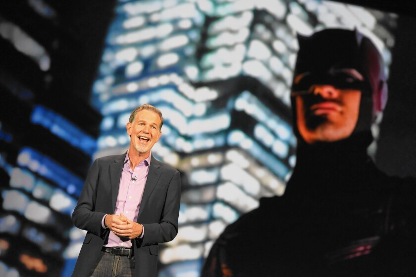 "At the CES technology conference this month in Las Vegas, Netflix chief Reed Hastings told attendees they were ""witnessing the birth of a new global Internet TV network."""