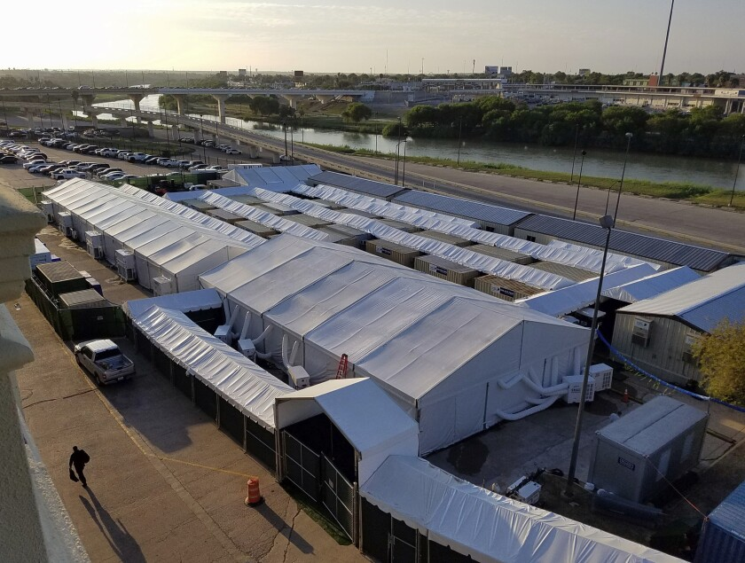 Immigration court tents built along the Texas border with Mexico will be closed to outside observers.