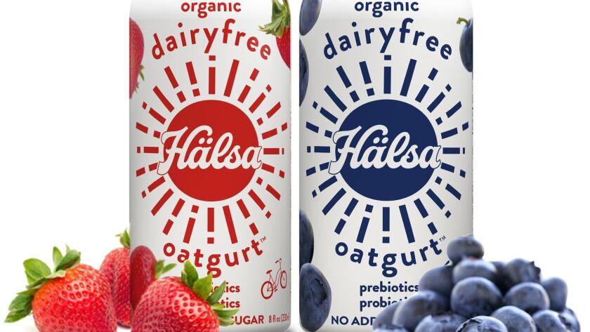 Organic oats and fruit make up yogurt drinks from Salsa Credit - Halsa