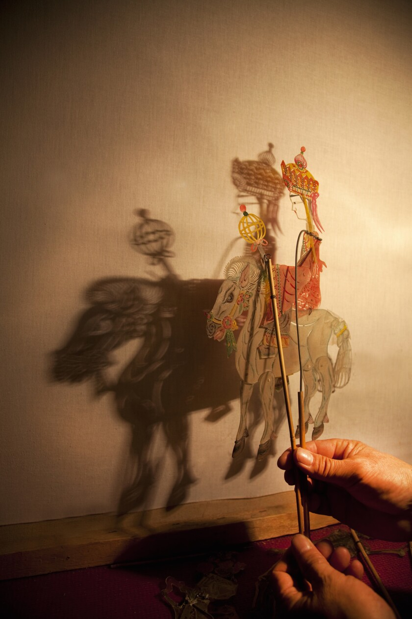 Shadow puppet in light