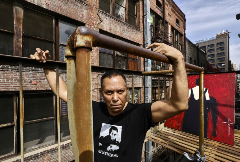 Gronk Nicandro is a performance artist, painter and set designer who has lived in downtown Los Angeles since the late 1970s. He also helped found Los Angeles Contemporary Exhibitions, whose first two galleries were in downtown Los Angeles.