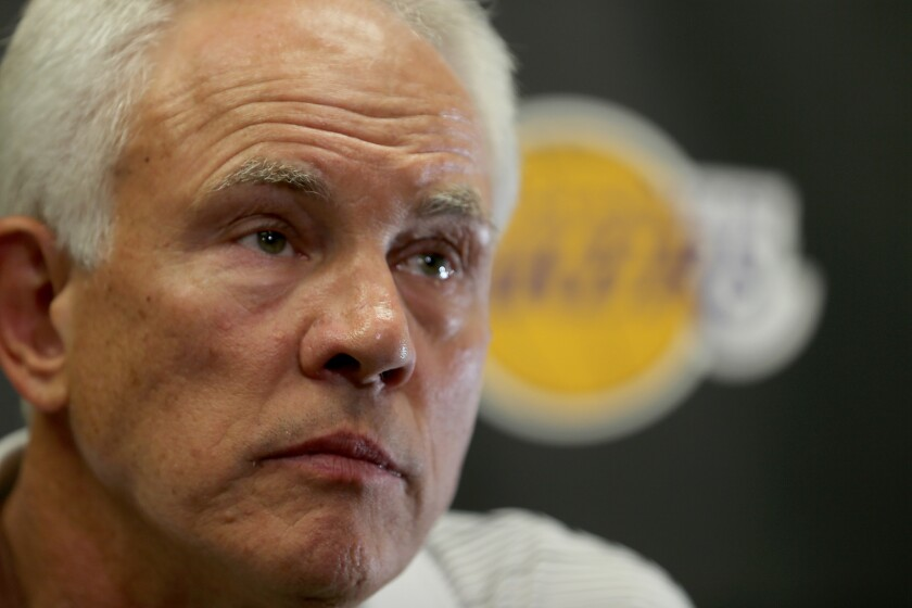 Lakers have a lot riding on the NBA draft lottery, but GM Mitch Kupchak doesn't want to talk about it