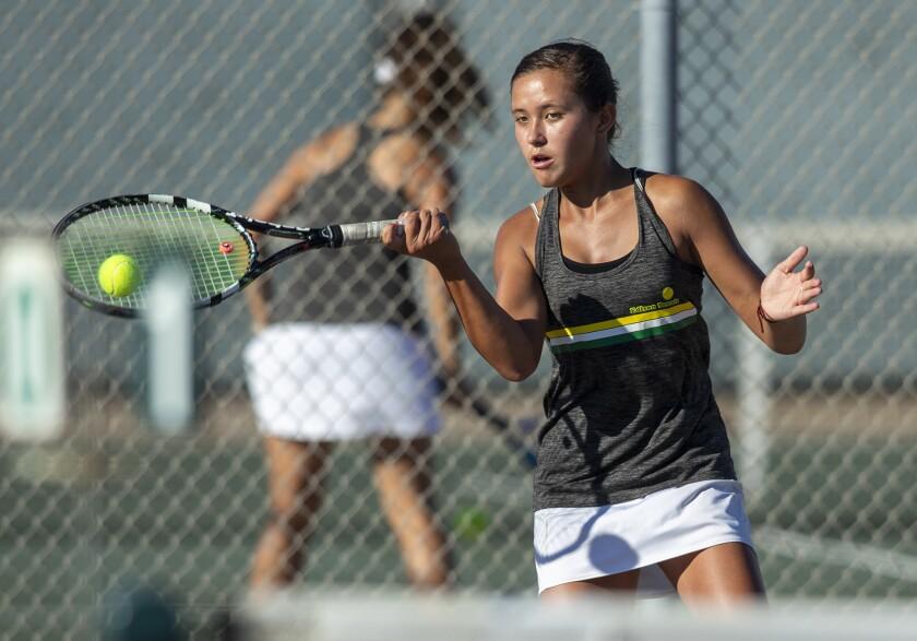 Photo Gallery: Huntington Beach vs. Edison in girls' tennis