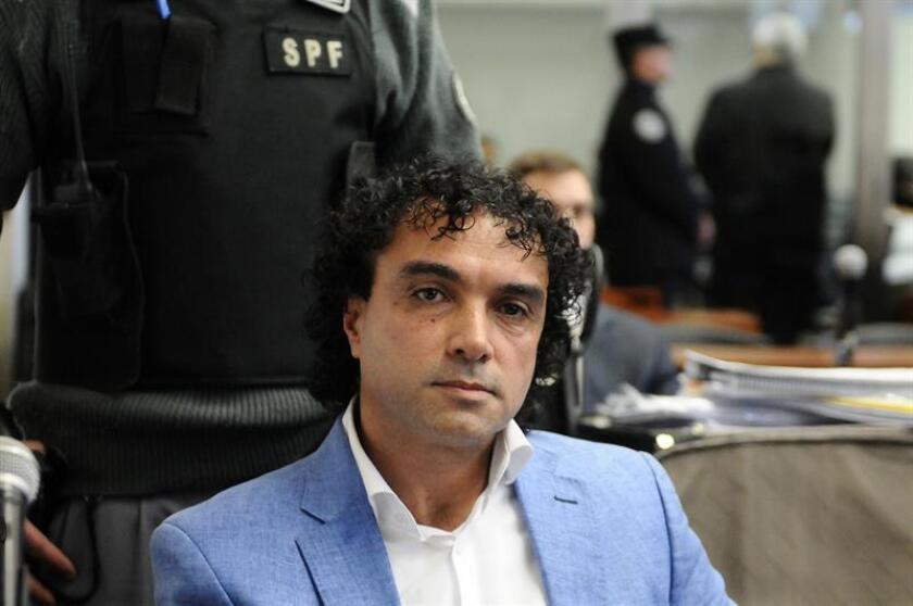"""El colombiano Henry de Jesús López Londoño, conocido como """"Mi Sangre"""" y extraditado desde Argentina a Estados Unidos, se declaró hoy """"no culpable"""" del cargo de narcotráfico que enfrenta en una corte federal del sur de Florida. EFE/ARCHIVO"""