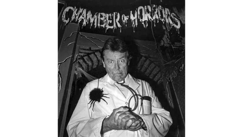 """Oct. 31, 1987: """"Monster Mash"""" creator Bobby Pickett during an appearance at the Hollywood Wax Museum."""