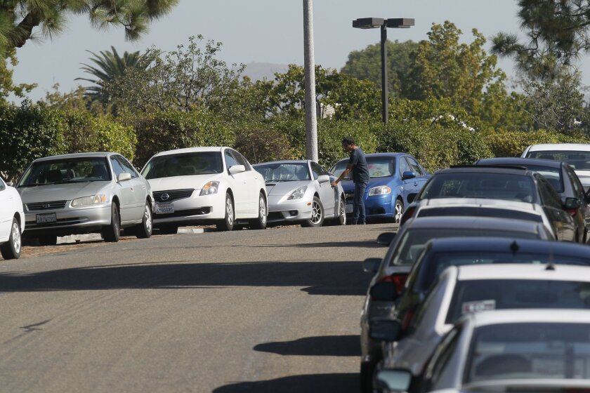 Residents in the neighborhoods near Southwestern College are so exasperated with the parking situation they have proposed to form a paid parking district for their streets.