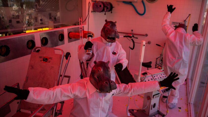 INDIO, CALIF. - APRIL 19: People dressed at Hippos in the H.I.P.O., Hazardous Interstellar Perfessio